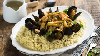 Кускус рецепт.Сицилийский кускус с рыбой и морепродуктами