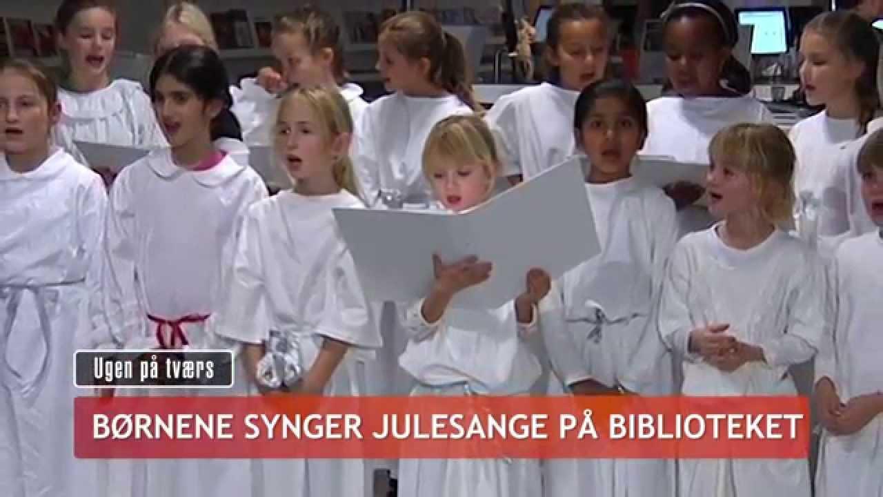 Børnene synger julesange på biblioteket - TV-Ishøj