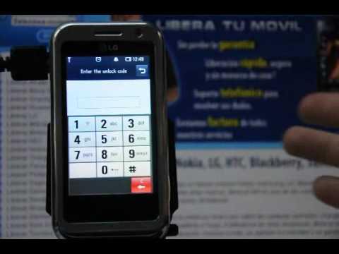 Como liberar LG KM900 Arena por código en www.movical.net