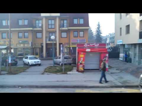 Journey through the center of Sarajevo, Bosnia and Herzegovina by car