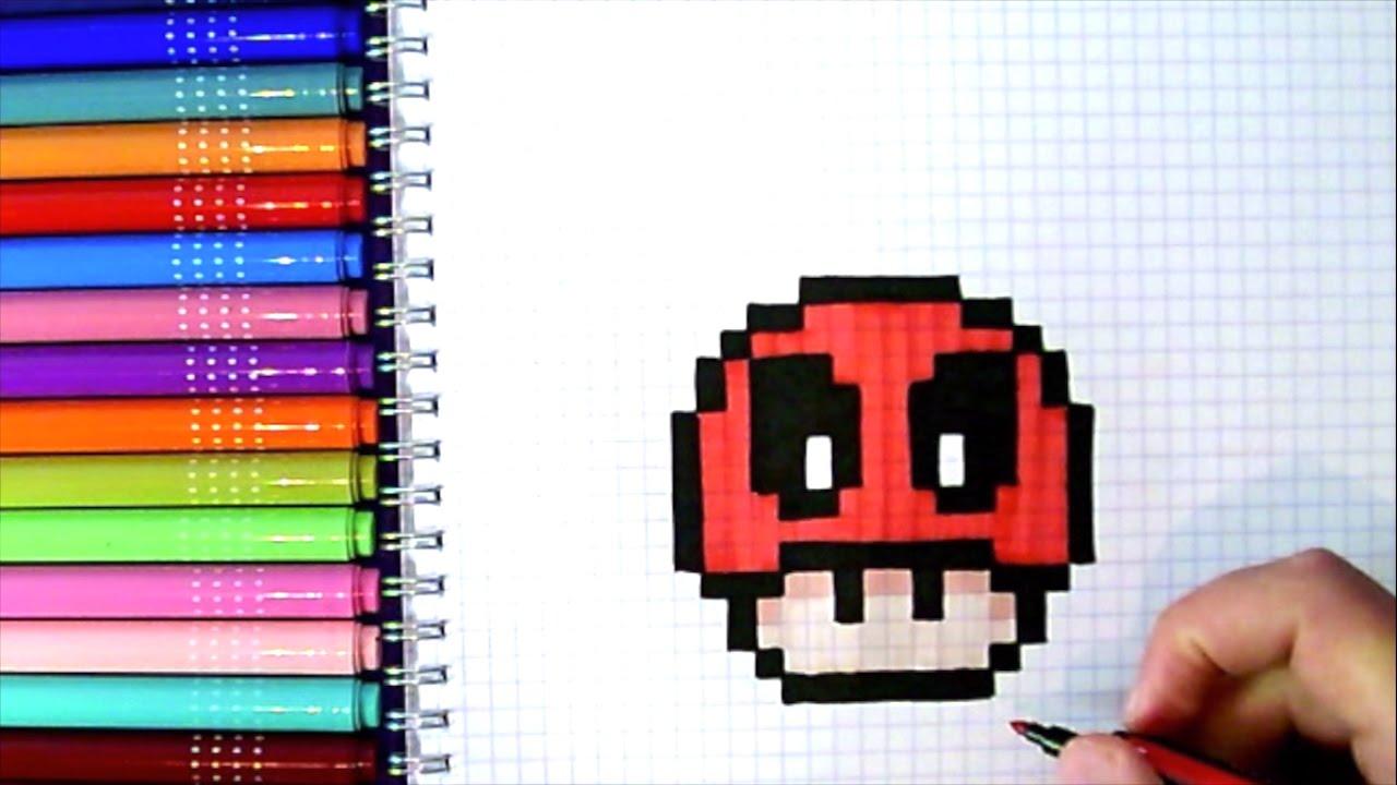 Pixel Art Hecho A Mano Cómo Dibujar Deadpool En Pixel Art Champiñón