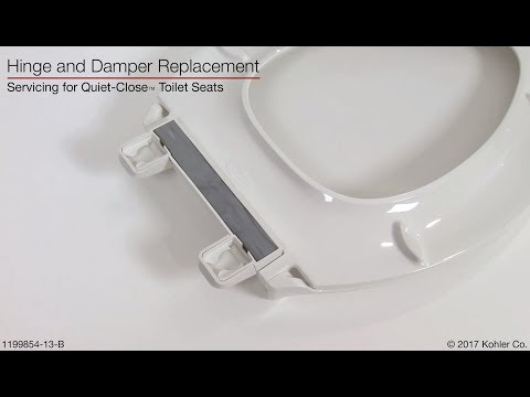 Hinge And Damper Replacement Quiet Close Toilet Seats