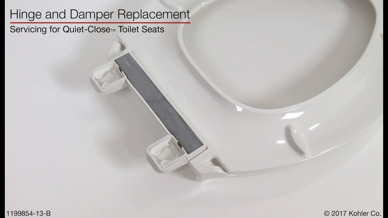 Hinge and Damper Replacement   Quiet Close Toilet Seats   YouTube