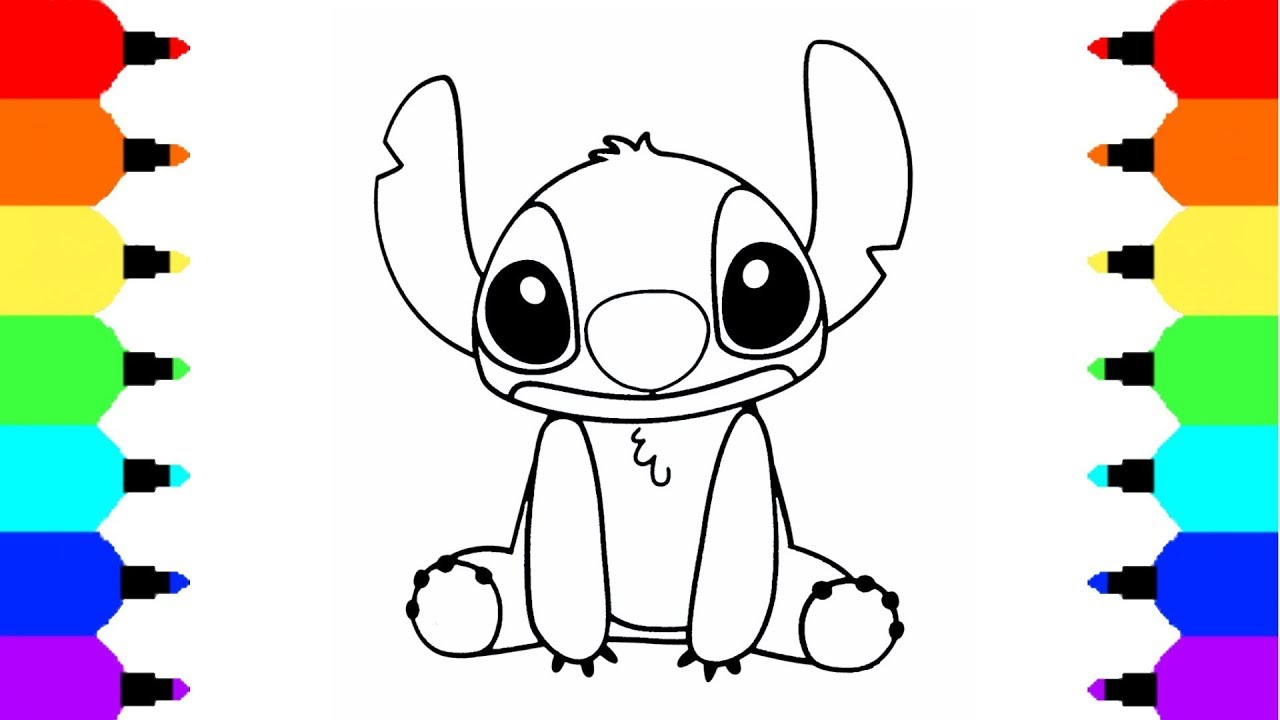 How To Draw Stitch From Lilo And Stitch Youtube