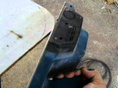 Cepillo el ctrico redondear esquinas de madera youtube - Cepillo madera electrico ...