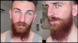 How to Style a Long, CUŔLY BEARD | Straighten your Beard Waves | Five-Inch Beard