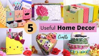 5 DIY Room Organizer Idea   Best cardboard box craft idea   Home Decor Idea    Aloha Crafts