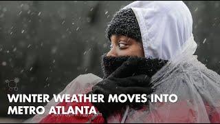 Winter weather moves into Metro Atlanta