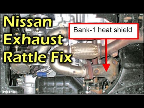 nissan exhaust rattle buzzing noise fix