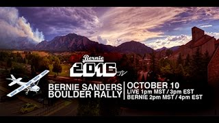 LIVE from the Boulder, Colorado Rally with Bernie Sanders