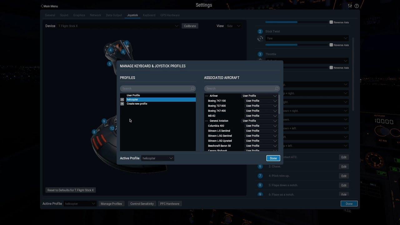 Joystick & Keyboard Profiles in X-Plane 11 10
