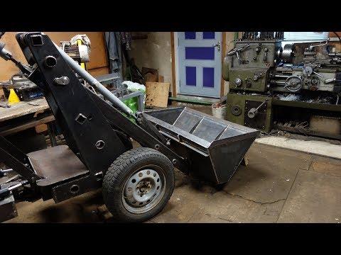 Постройка минипогрузчика с мотором от Оки своими руками.Первый запуск двигателя