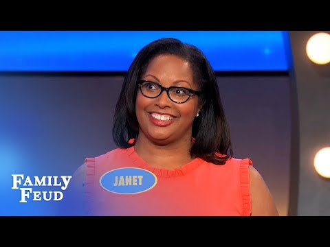 Janet ain't gettin' high on her own supply!   Family Feud