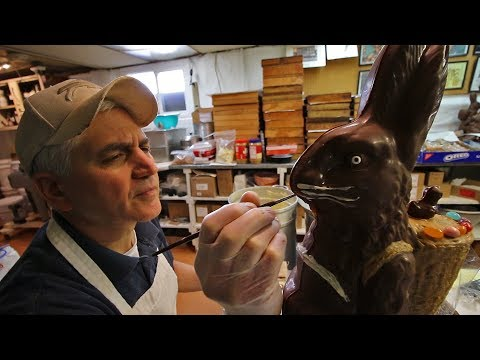 Making Our Biggest Chocolate Easter Bunnies