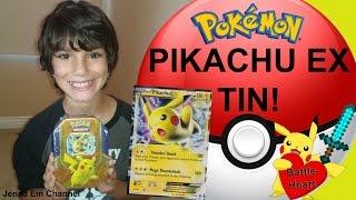Pokemon Pikachu EX Battle Heart Tin Opening! Jenna Em Channel