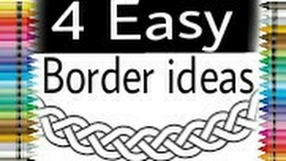 Border ideas for project ! Framing ideas for projects ! Outlines for drawing ! For project files