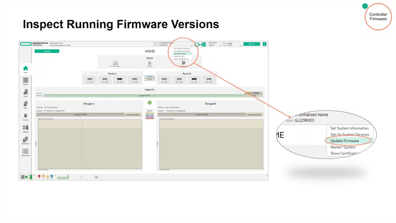 HPE MSA Storage Best Practices: Upgrading Controller Firmware