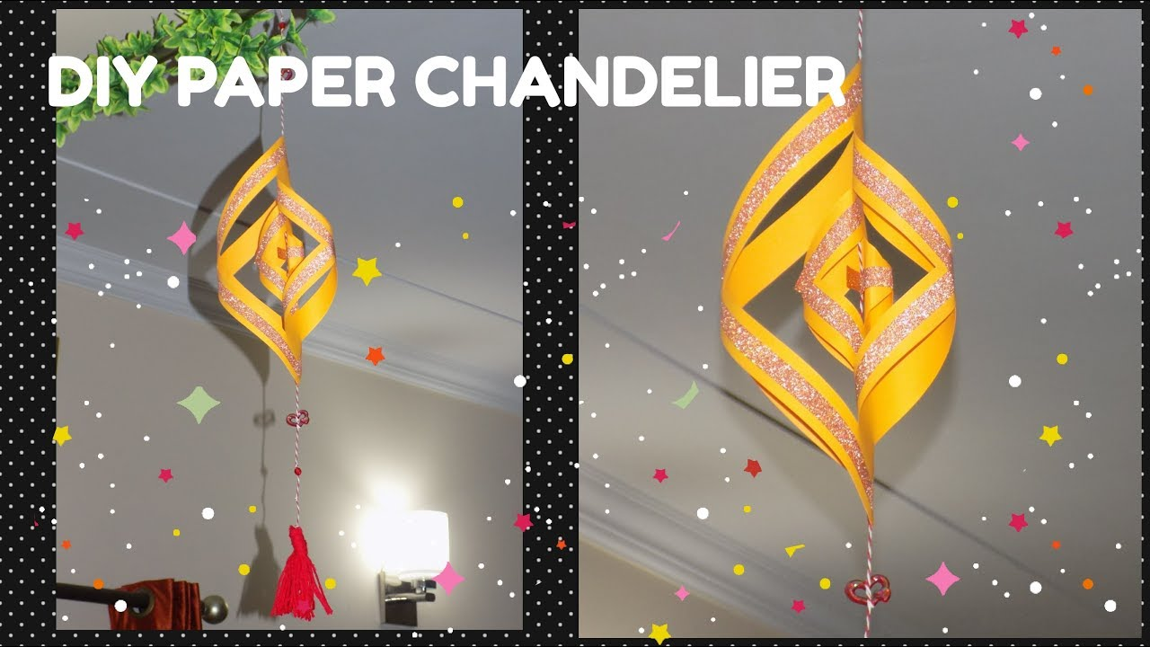 Diy paper chandelier wall hanging craftsogramm youtube diy paper chandelier wall hanging craftsogramm arubaitofo Choice Image