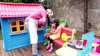 Grandpa Kid Pretend Play In Real Life Surprise eggs- Oyuncak Avı Öykü