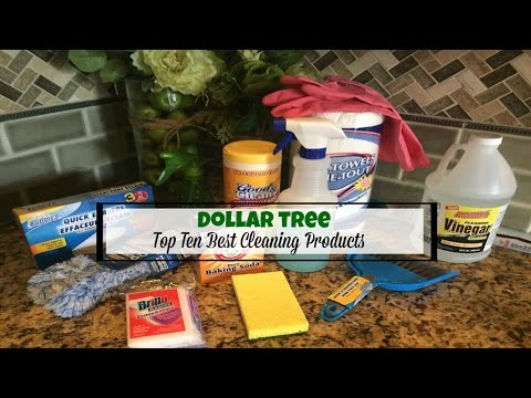 DOLLAR TREE HAUL   TOP 10 BEST CLEANING PRODUCTS   2017