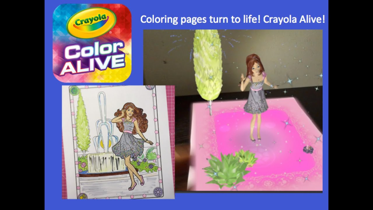 Barbie crayola color alive with copic markers 3d 4d for Crayola color alive coloring pages