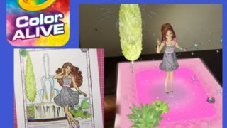 barbie crayola color alive with copic markers 3d 4d art