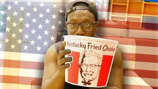 TRYING KFC IN AMERICA FOR THE FIRST TIME