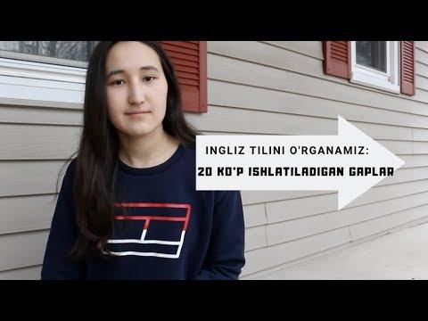 20 Ko'p ishlatiladigan inglizcha gaplar//Ingliz Tilini O'rganamiz (4-Dars)
