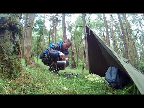 Single Polish Poncho Shelter ( Test Setup ) & Single Polish Poncho Shelter ( Test Setup ) - YouTube