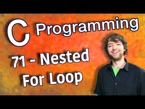 C Programming Tutorial 71 - Nested For Loop thumbnail