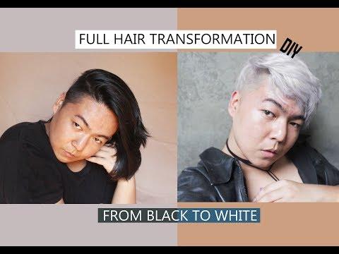 WHITE / SILVER HAIR / DIY - TUTORIAL/ TONING / ECMET /  Bahasa Indonesia