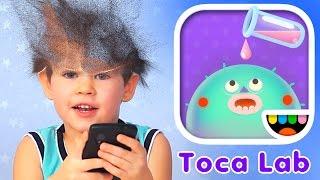 Toca Lab на русском. Развивающая игра для детей про молекулы. #ЭрикШоу