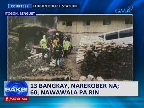 Saksi: 13 bangkay, narekober sa guho sa Itogon, Benguet