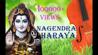 Nagendra haraya trilochanaya with lyrics