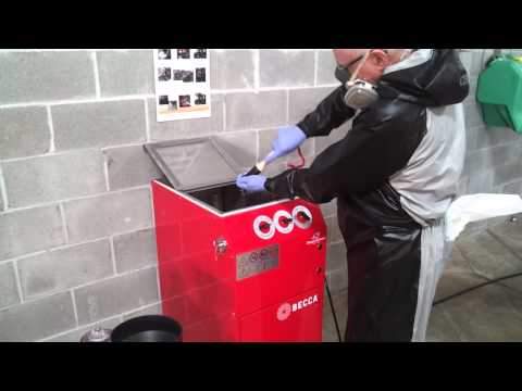 """BECCA S300A Solvent Spray Gun Cleaner - Operation """" How to Clean a Solvent Spray Gun"""""""