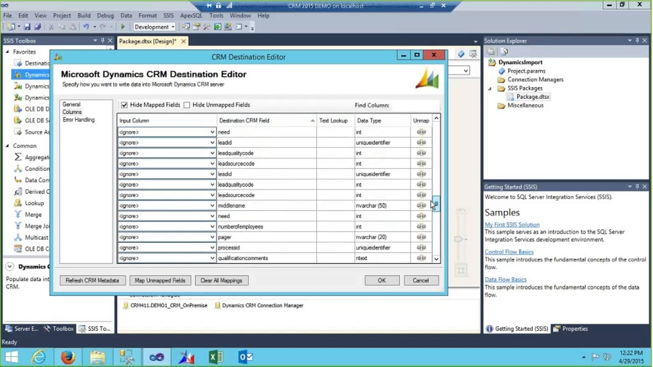 Quick Start Guide to CRM Data Migration using SQL Server SSIS