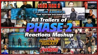 All Trailers of Marvel PHASE 2 Reactions Mashup (Iron Man 3, Winter Soldier, Avengers Age of Ultron)