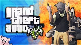 GTA 5 Online Funny Moments - BACON FTW! (Funny Railroad Glitch, & Crazy Ladder Glitch)