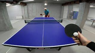 Настольный теннис от первого лица