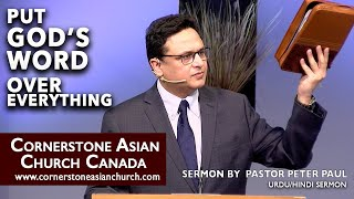 PUT GOD'S WORD OVER EVERYTHING | Pastor Peter Paul | Cornerstone Asian Church