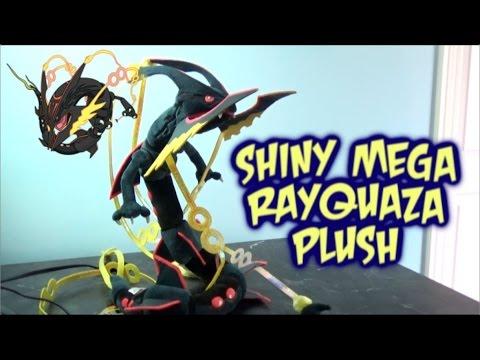 Pokemon Center Japan 32 Black Shiny Mega Rayquaza Stuffed Plush