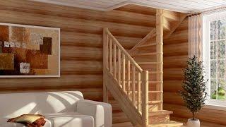 Деревянная лестница на заказ(Компания «Тепло и уют в Вашем доме» предлагает свои услуги по изготовлению/строительству деревянных лестн..., 2015-04-25T07:18:01.000Z)