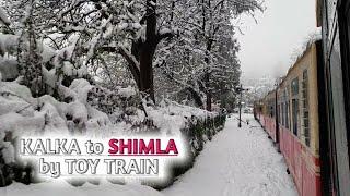 Kalka Shimla Toy Train- The Himalayan Queen | Snowfall ride