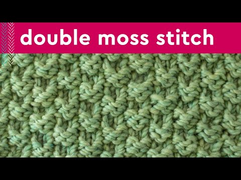 DOUBLE MOSS Knit Stitch Pattern | Easy for Beginning Knitters