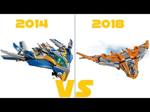 LEGO AVENGERS - 76107 Thanos:  Ultimate Battle VS 76021 The Milano Spaceship  Rescue - COMPARISON