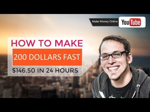 How To Make 200 Dollars Fast | $146.50 In 24 Hours ✅