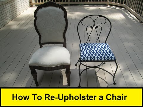 How To Re Upholster A Chair (HowToLou.com)