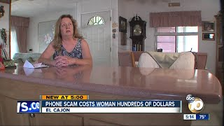 Phone scam costs woman hundreds of dollars