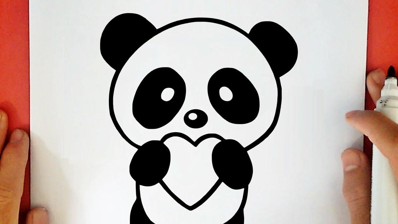 Comment Dessiner Un Panda Kawaii Avec Un Coeur Youtube
