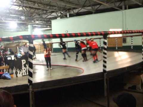 Penn Jersey banked track roller derby, incl.  old timers bout, 11.10.2012